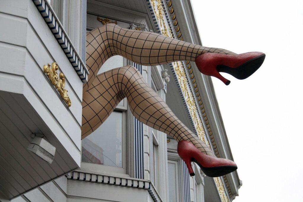 SF photo spots - Haight Street legs